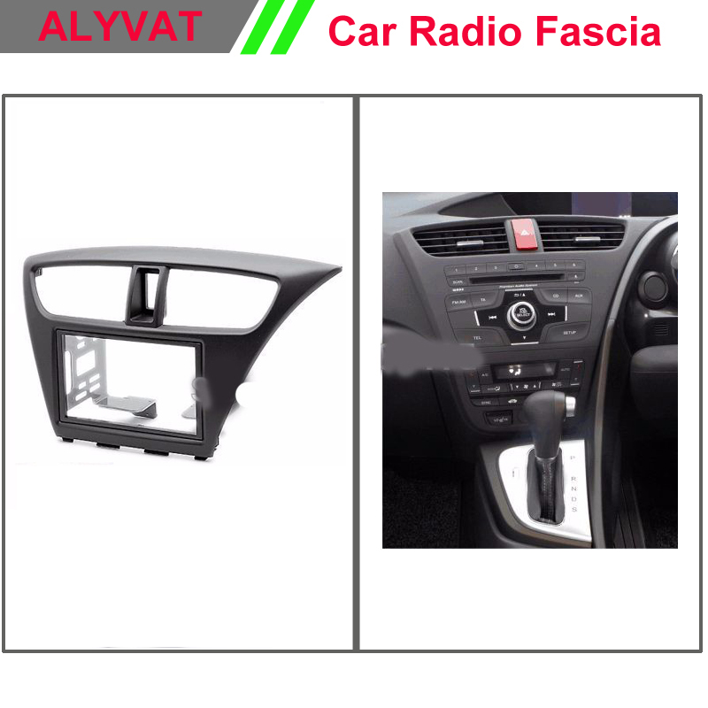 Top Quality Car DVD Radio Fascia for HONDA Civic Hatchback (Right Wheel) Stereo Facia Dash CD Trim Installation Kit 11 405 car radio dash cd panel for kia skoda citigo volkswagen up seat mii stereo fascia dash cd trim installation kit