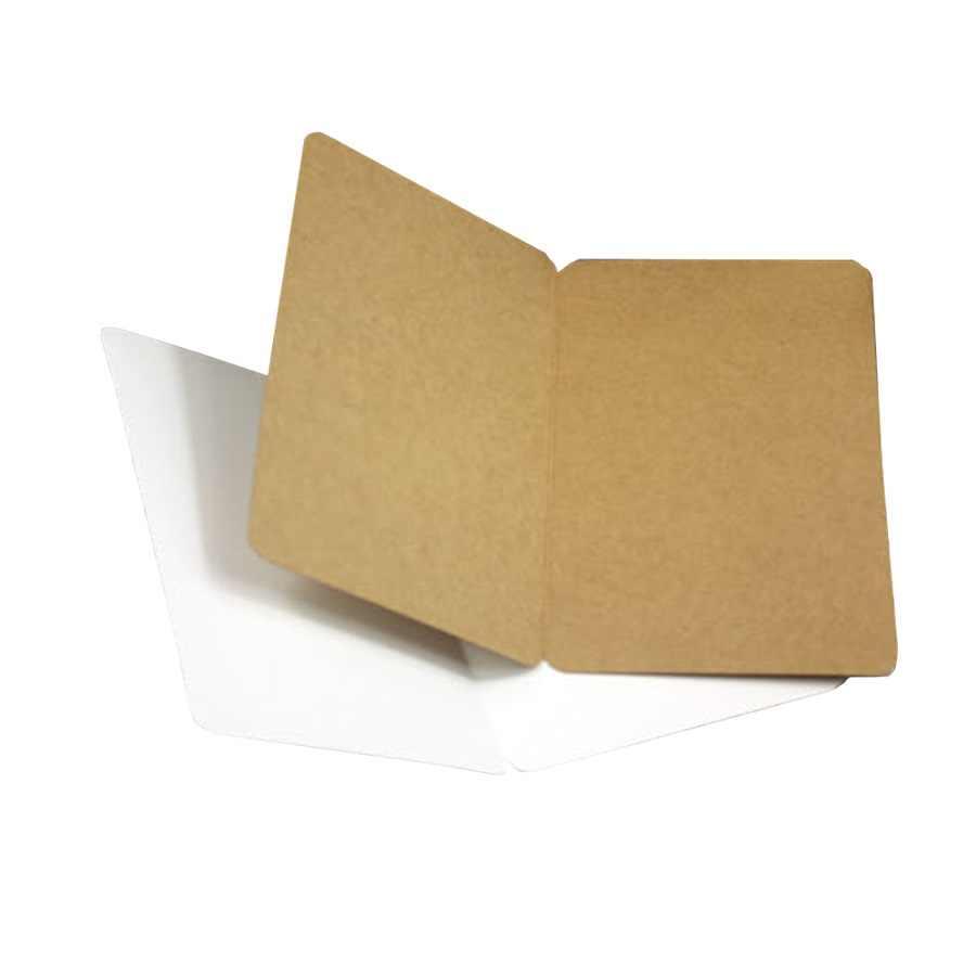 10 stks/partij Studenten DIY Bussiness kaart Vintage Blank serie kraftpapier postkaart Groet Gift Card Nieuwe Mode bruin wit zwart