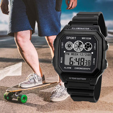High End Luxury Men Analog Digital Watch Military Sport LED Square The Man Wrist