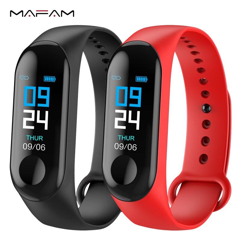MAFAM M3X Inteligente Pressão Arterial Pulseira Rastreador De Fitness IP67 Bluetooth À Prova D' Água Faixa De Pulso Inteligente Para iphone xiaomi smartband