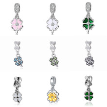 Four Leaf Clover bracelet princess DIY charms bijoux  perfumes mujer originales necklace charm jewelry beads