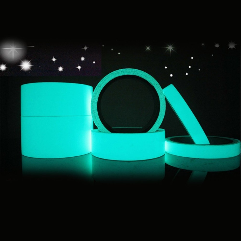 Reflective Material Reflective Glow Tape Self-adhesive Sticker Removable Luminous Tape Fluorescent Glowing Dark Striking Warning Tape Dropshipping Roadway Safety