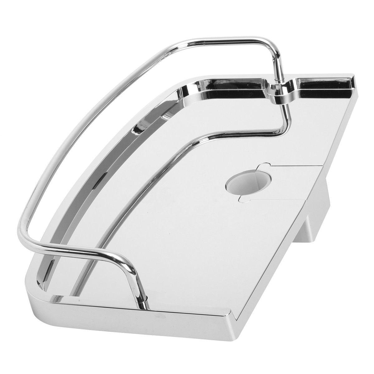 NHBR-Bathroom Pole Shelf Shower Storage Caddy Rack Organiser Tray Holder Dia 24Mm