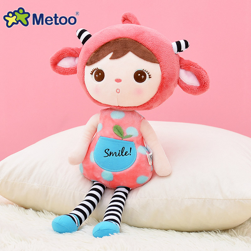 45cm Plush Sweet Cute Lovely Stuffed Baby Kids Toys for Girls Birthday Christmas Gift Cute Girl Keppel Baby Doll Metoo Doll 22 inches sweet girl dolls brown hair 55cm doll reborn baby lovely toys cute birthday gift for girls as american girl