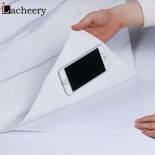 Новая одноцветная самоклеящаяся виниловая обои для гостиной мебель для кухни шкафа водостойкие наклейки из ПВХ мраморная контактная бумага