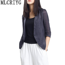 Spring New 2018 Women Blazer And jackets Elegant Summer Casual Short Coat Female Blazers Work Outwear High Quality LX37