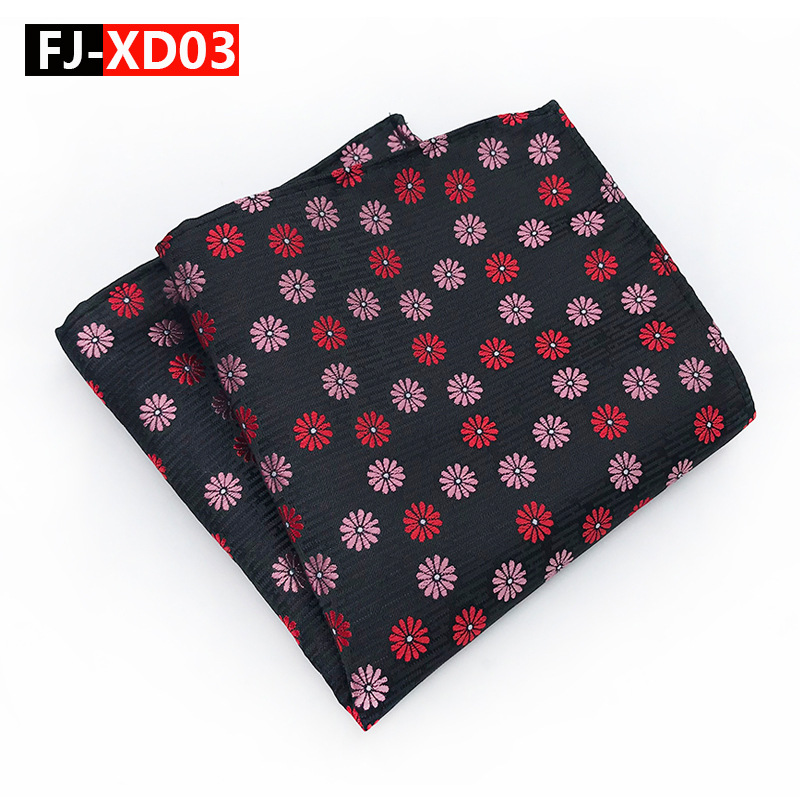 New Arrive Silk Handkerchiefs Woven Floral Pattern Hanky Men's Business Casual Square Pockets Handkerchief Party Hankies