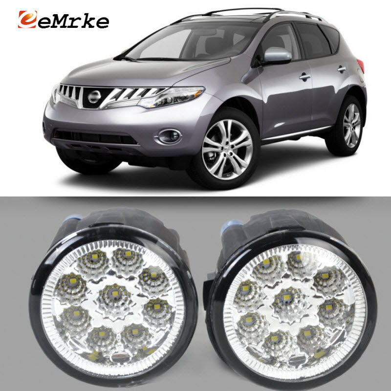 EEMRKE For Nissan Murano 2009-2014 9-Pieces Led Halogen Fog Lights 12V 55W Fog Head Lamp Car-Styling в мире науки 9 2009
