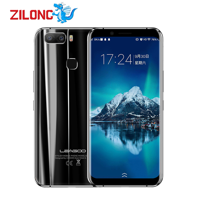 """LEAGOO S8 Pro 5.99"""" Bezel-Less 18:9 Display 4G Smartphone MTK6757 Octa Core 6GB RAM 64GB 13MP Android 7.0 Touch ID Mobilephone"""