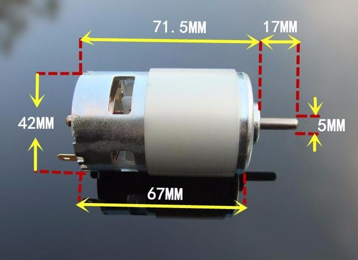 Dual Ball Bearings 775 Motor High speed 775 motor large torque DC motor 12V 24V for RC Car /boat Model Spare Part ff 050 dc high speed motor 7v