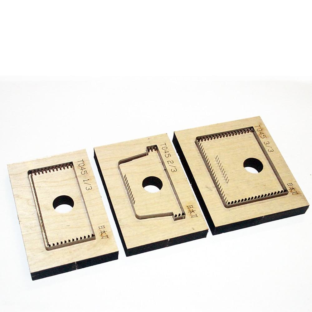 DIY Leather Card Holder Bag Set Hand Punch Tool Knife Mould 3pcs/set
