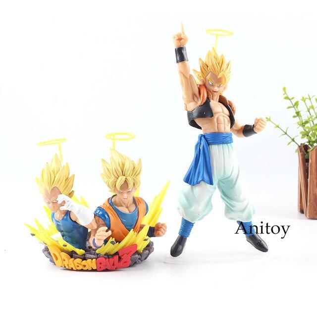 Dragon Ball Z Estátua Com: figuração Vol.1 & 2 Son Goku Vegeta Super Saiyan Gogeta Action Figure Anime PVC Coleção Toy Modelo