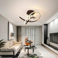 Luzes de teto modernas led  para sala de estar  quarto  sala de estudo  branco/preto/café  acabado  decoração de casa  imperdível lâmpada 90-260v