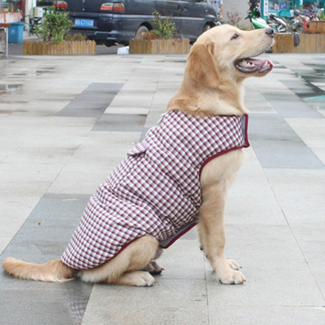 Winter Warm Dog Clothes Pet Clothes For Dogs Coat Jackets Cotton Dog Clothes pet  jacket both sides suit for middle large dogs