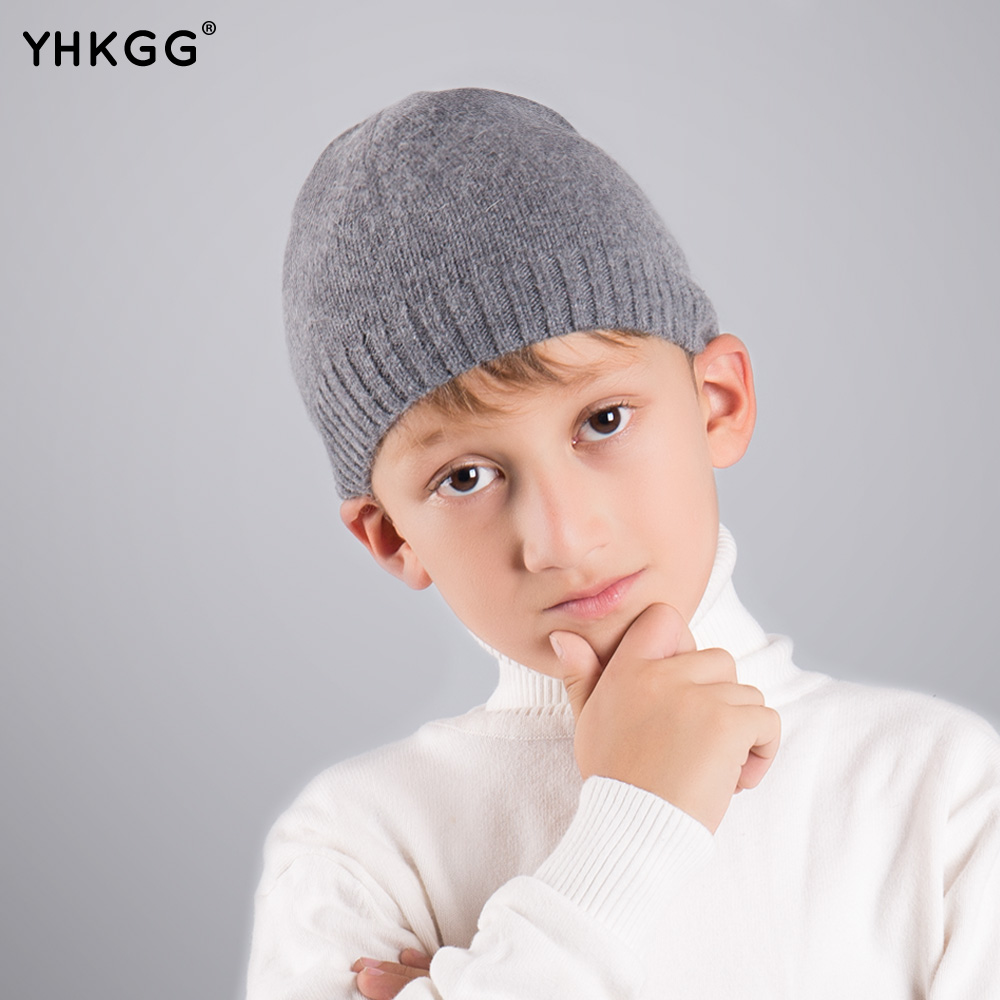 YHKGG 2017 last brand new Warm winter wool knitting children boys beanies  Winter Warm Hat Knitted Cashmere the new children s cubs hat qiu dong with cartoon animals knitting wool cap and pile