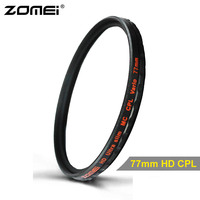Zomei 77mm CPL Filter Multi Coated MC HD Pro Optical Glass Circular Polarizer Lens Filter For