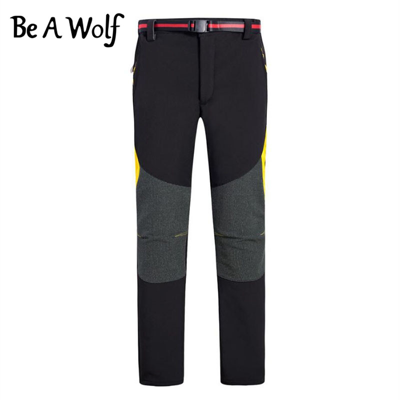 Be A Wolf Hiking Pants Outdoor Fishing Camping Skiing Hunting Clothes Sport Cycling Trekking Softshell Winter Men Women Ski Pant