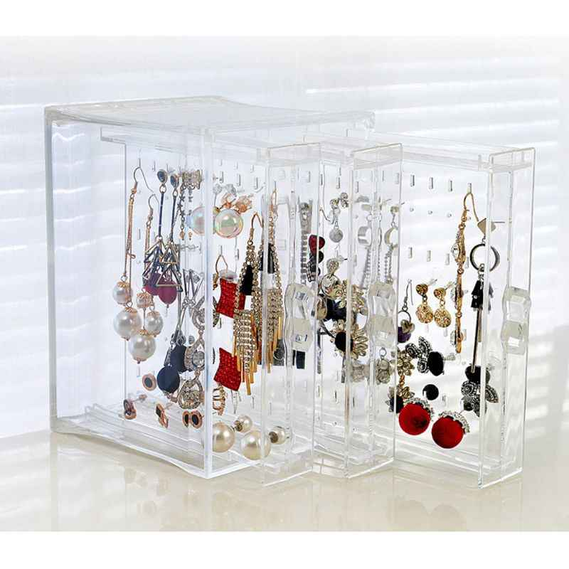 200 Holes Earrings Studs Necklace Jewelry Display Rack Stand Organizer Holder