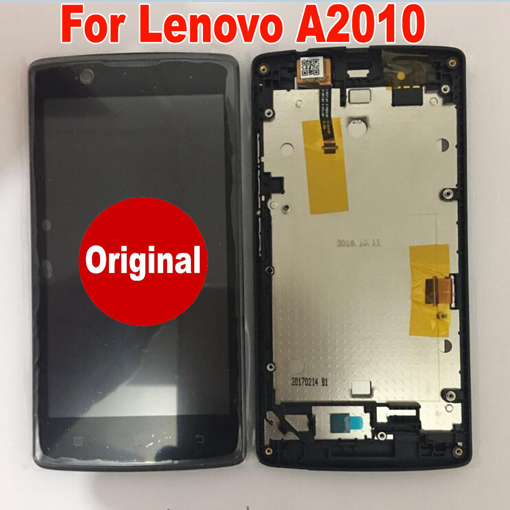 Original Best Working Sensor LCD Display Touch Screen Digitizer Assembly With Frame For Lenovo A2010 Angus 2 A2010-a A2010a