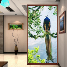 PSHINY 5D DIY diamond embroidery on the photo Peacocks Full drill round rhinestones animal pictures Diamond Painting new arrival