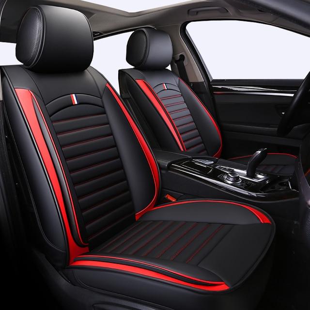 Front+Rear PU Leather Universal auto seat covers fit toyota prius 20 30 yaris highlander rav 4 rav4 camry 40 50 corolla 2017