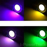10 W zmiana koloru RGB LED zdalnego wpuszczone lampa wystawowa sufit Spot W dół światła kolorowe led w Żarówki i oprawy LED od Lampy i oświetlenie na