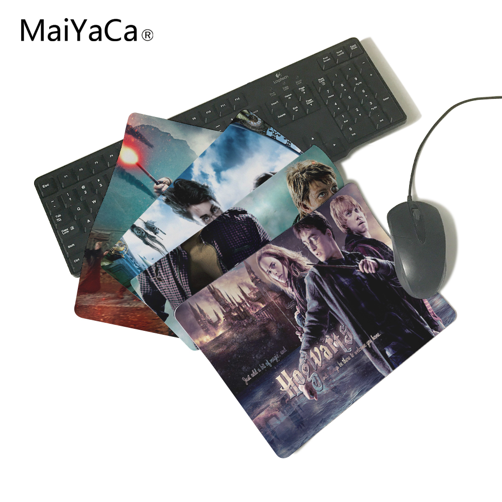 MaiYaCa Christmas gift Hogwarts Computer Mouse Pad Mousepads Decorate Your Desk Non-Skid Rubber Pad 250mmx290mmx2mm