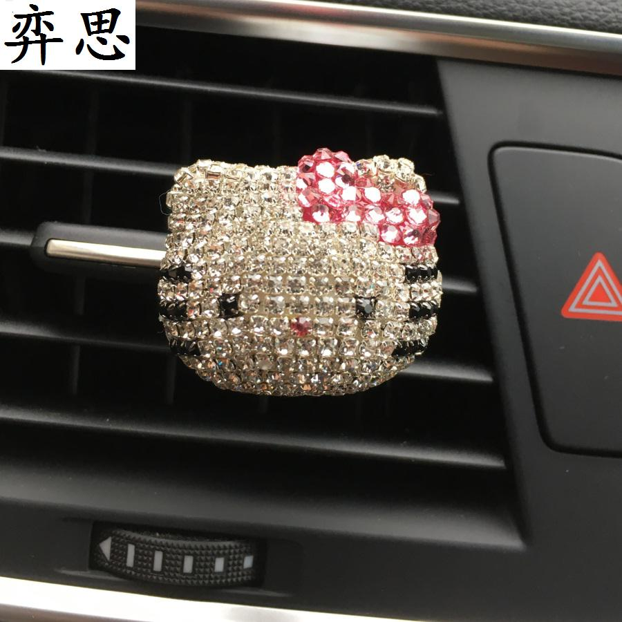 Dame Auto Parfüm Diamant Schöne Hallo KT Katze Outlet Parfüm Kt Cat Air Outlet Parfums 100 Original Car Styling Ornamente