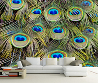 Custom photo wallpaper, Peacock feather,3D modern wall paper mural for living room bedroom kitchen wall waterproof PVC wallpaper