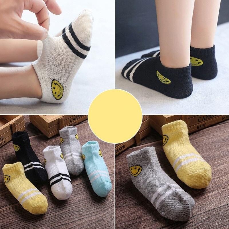 10Pcs/lot Spring Summer children's socks Mesh Cotton Socks for a boy Striped Solid socks for children Girls Kids Sport Socks 5