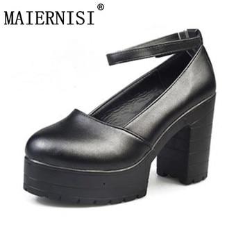 2018 Factory Outlet Big spring ladies footwear casual thick heels platform shoes for girls Europe women hihg heels shoes pumps kryte sandały na platformie