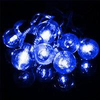 1 5M Multicolor LED Outdoor Light Globe Balls Bulb Fairy Lamp 10 LED String Light Battery
