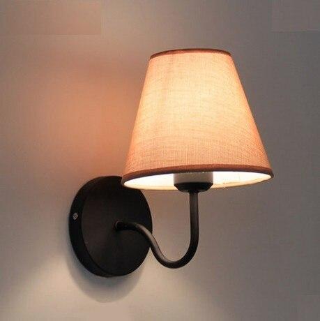 simple creativo tela apliques de pared modernos de pared llevada lmparas para el dormitorio de la