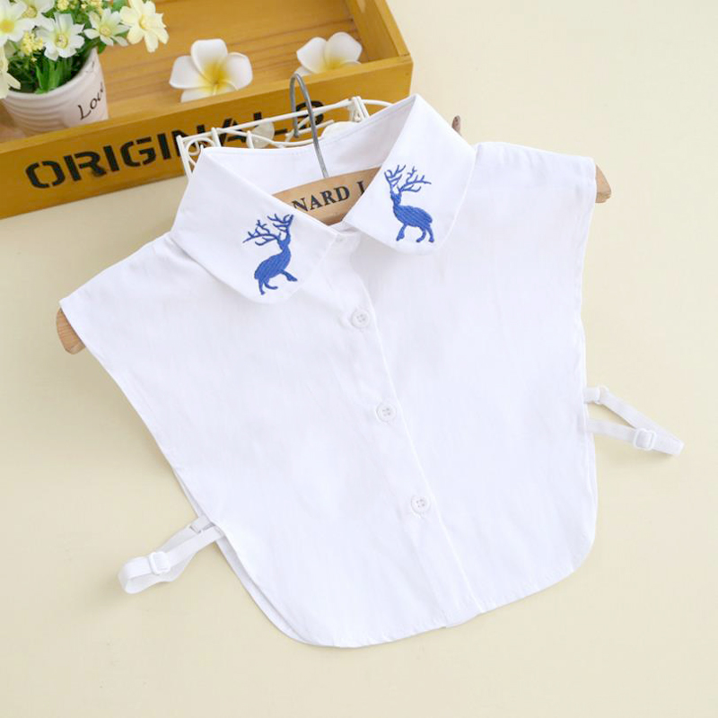 2017 New Shirt Fake Collar Womens White Shirt False Collar Removable Detachable Lady Collar Women Clothes Accessories