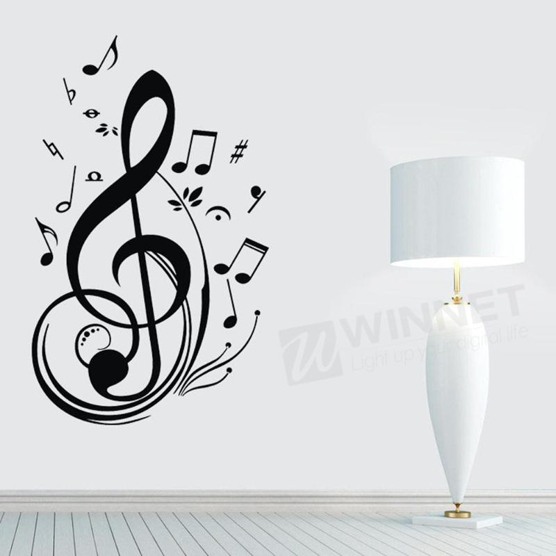 Wall Art Stickers B And Q : Popular musical note decoration buy cheap