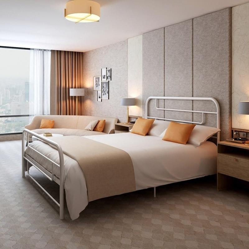 Schlafzimmer Möbel Moderne Vertraglich Eisen Erwachsene 1,8 1,5 Meter Doubleiron Rahmen Bett Kind Einzigen Eisen Bett 1,2 äRger LöSchen Und Durst LöSchen Möbel