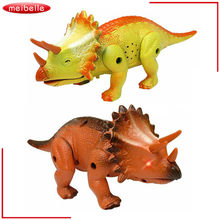 Electric toy large size walking dinosaur robot With triceratops Tyrannosaurus Rex kids toys children gifts(China)