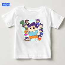 2019 Fashion Crayon Shin-chan Clothing Japan Anime Childrens T Shirt Cartoon Girl Shirts White Top Boy Free Shipping YUD