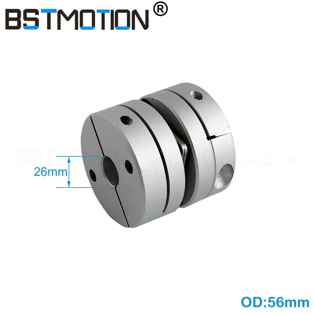 Motor Shaft Coupling 20mm 26mm 27mm 28mm Single Disc coupling OD 56mm Disk Coupler 25N m