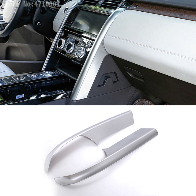Car Accessories Center Console Side Decoration Strips Trim 2pcs for Land Rover Discovery 5 LR5 2017