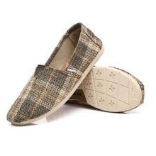 Мужчины лодка обувь квартиры slip on холст обувь конопли повседневная обувь пары тапочек мужские мокасины эспадрильи проезда обувь moccasines XK532