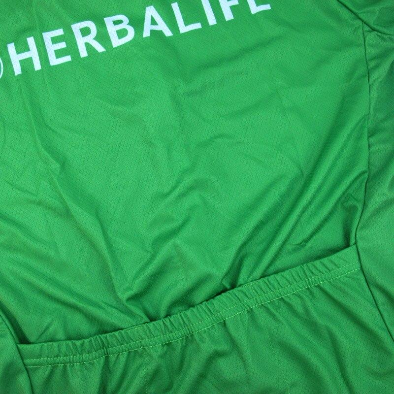 Cămașă nouă de ciclism Herbalife 2018, haine pentru ciclism verde - Ciclism - Fotografie 4