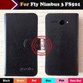 6 Цветов 2017 Fly Nimbus 3 FS501 Case цена Завода Флип Кожаный Защитный Телефон Case Cover Luxury Кожаный Бумажник Дизайн