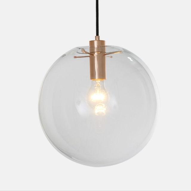 Decoration modern white pendant light ball for Lustre suspension moderne