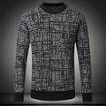 2016 de Invierno de calidad superior de lana tirón de cuello redondo estilo homme hombres suéter grueso suéter ocasional M ~ 3XL, 4XL #8502
