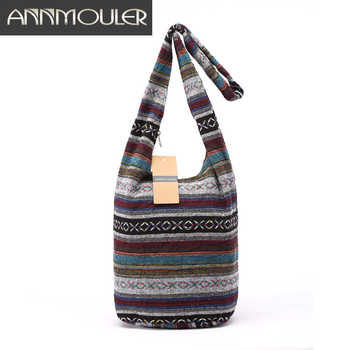 Women Vintage Shoulder Bag Mochila Retro Weave Fabric Messenger Bag Bohemian Style Hippie Aztec Folk Tribal Crossbody Bag - DISCOUNT ITEM  30 OFF All Category