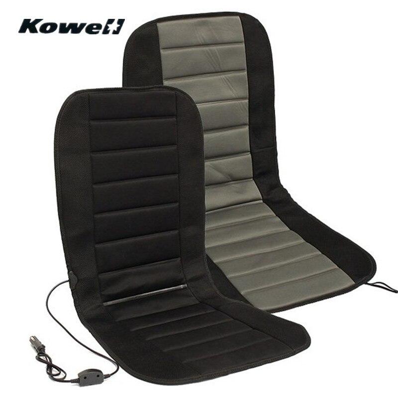KOWELL מקרה כיסוי כרית מחומם מושב מכונית אוניברסלי 12 V חורף מתכוונן טמפרטורת תואר Driver Auto תמיכה חמה