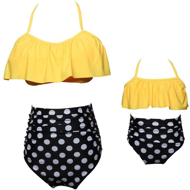 f073d68759 2018 famille correspondant maillots de bain mère fille sirène plage enfant  Bikini Bahitng maillot de bain