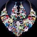 FAELENA Joyería de Lujo Declaración de Cristal Collar Pendientes establecidas para Las Mujeres Africanas de la Boda Joyería nupcial Conjuntos