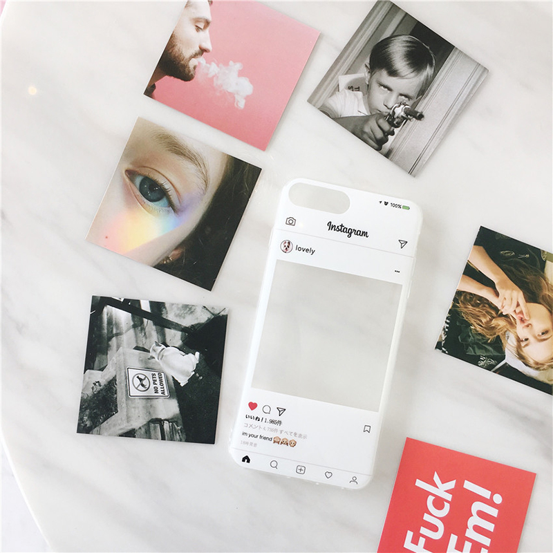 ProBefit Fashion INS Photo Card DIY Case for iPhone 8 7 6S Plus Clear Soft TPU